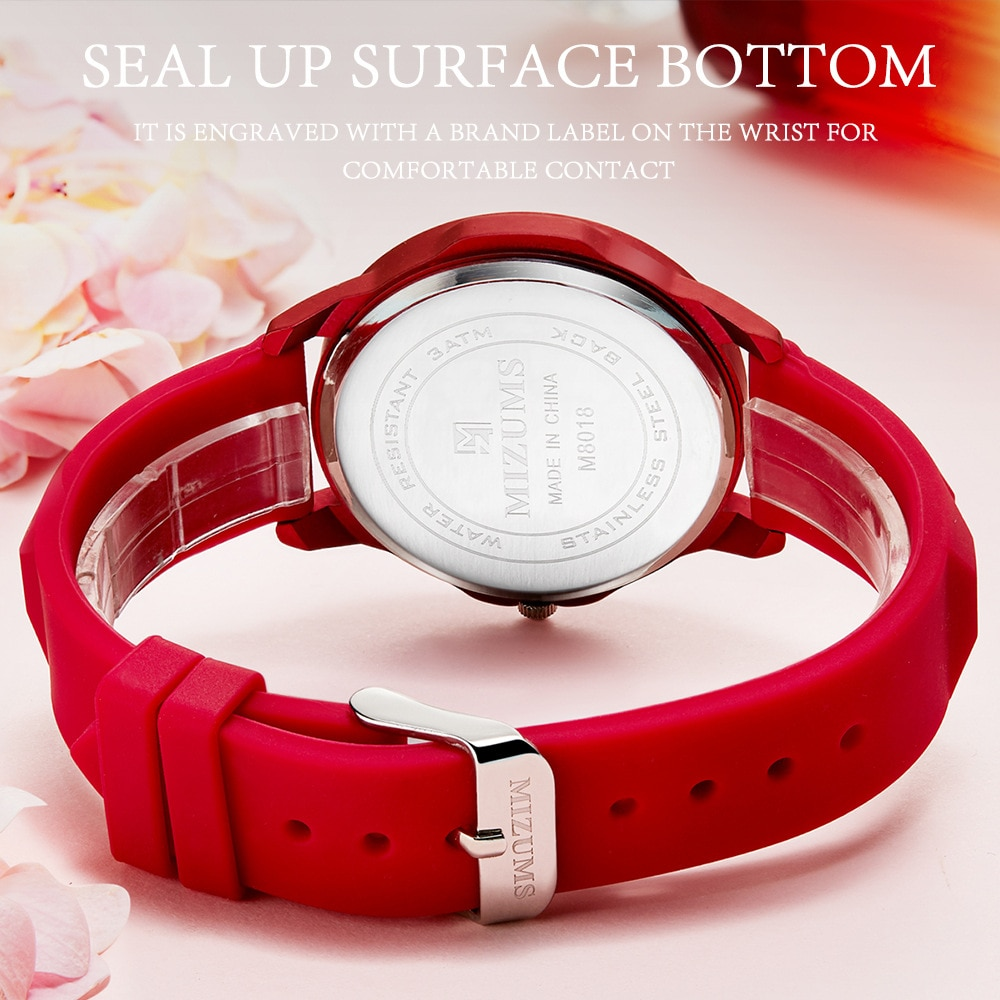 2019 New MIZUMS Women's Watch Student Silicone Quartz Watch Waterproof Watch Fashion Casual Female Watches Relogio Masculino enlarge