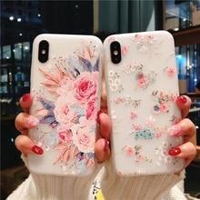 KISSCASE, funda Floral para Samsung S8/S9/S10 Plus S10E A30 A50 A70 S7/S6 Edge Note 5 8 9 A20 A40 M10 M20 M30, funda de TPU suave