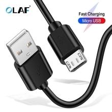 Câble Micro USB OLAF chargeur de téléphone rapide adaptateur câble de données pour Samsung Xiaomi Huawei Meizu Sony Android chargeur Microusb