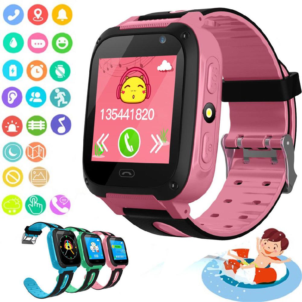 Reloj inteligente resistente al agua para niños, reloj inteligente con llamadas, rastreador...