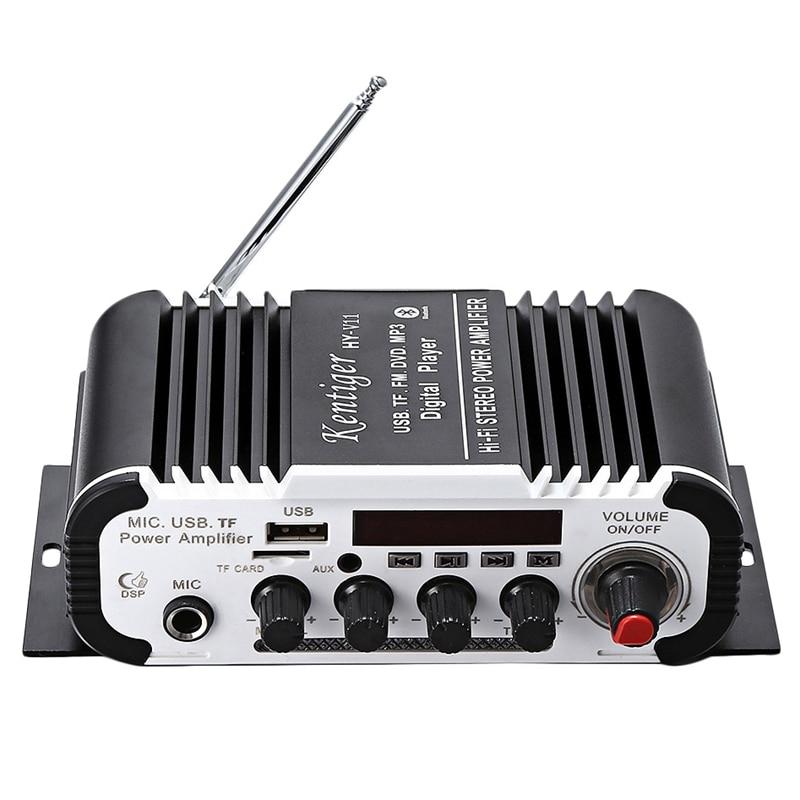 Bluetooth усилитель Kentiger Hy-V11, 2-канальный усилитель супер басов, аудио усилитель с дистанционным управлением, Tf, Usb, Fm, 85 дБ, Mp3, Fm радио
