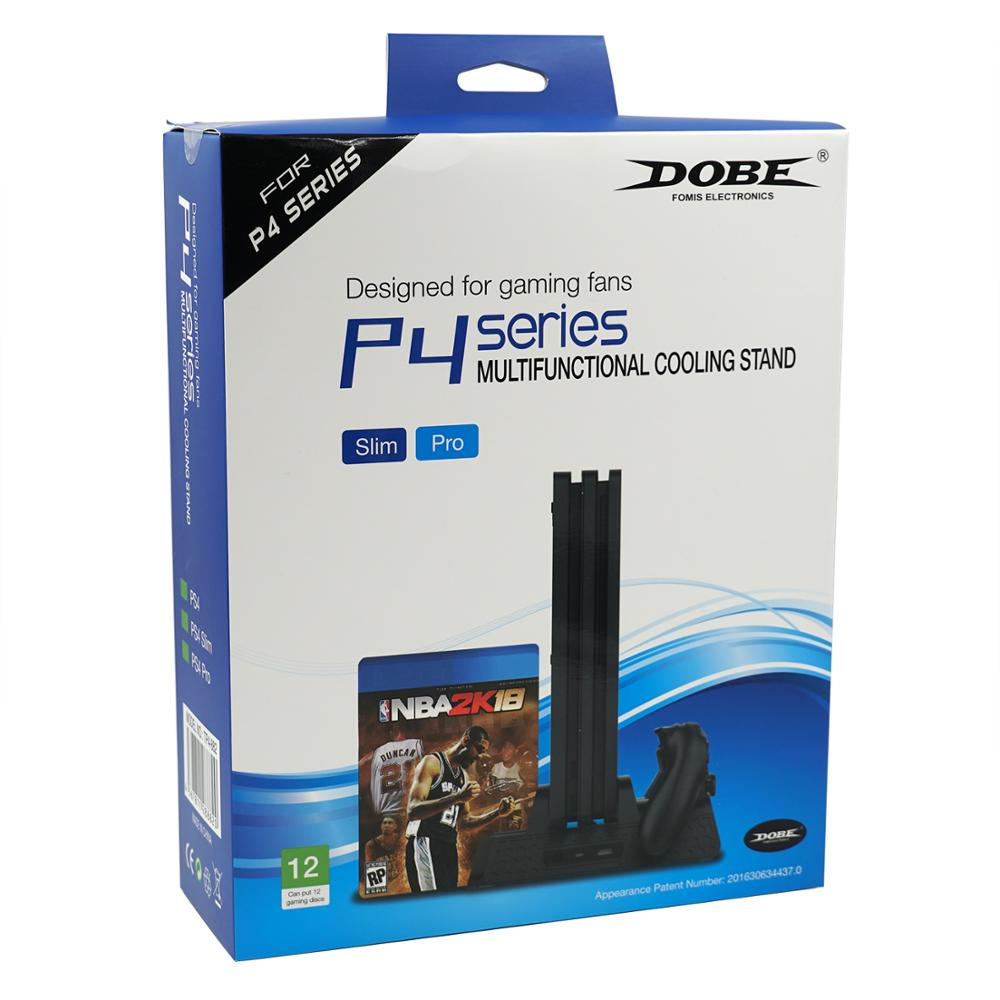 Soporte de refrigeración Vertical multifunción DOBE con conector de carga USB doble para PS4/para PS4 Slim/para consola PS4 Pro (TP4-882)