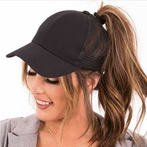 2019 New Glitter Ponytail Baseball Caps Sequins Shining High Quality Fashion Womens Messy Bun Adjust