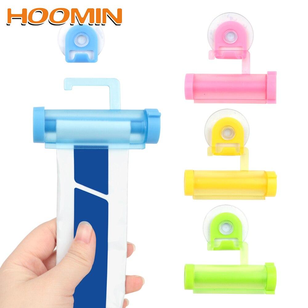 Limpiador Facial HOOMIN, exprimidor de tubo de Clip, exprimidor de pasta de dientes, dispensador de Ventosa con gancho, exprimidor