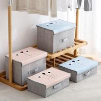 Storage Box Modern Underwear Bra Scarf Socks Eco-friendly 16 Lattice Grid High Capacity Stocked Folding Bag Organizer Clothing