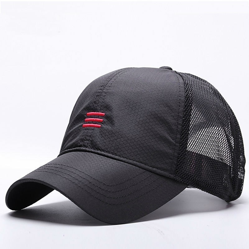 Big Head Man Plus Size Baseball Cap Men Summer Thin Fabric Mesh Sun Hat Male Snapback Hats M 55-59cm