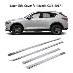 Tira de cobertura lateral da porta do corpo carro para mazda CX-5 cx5 2017 2018 2019 abs chrome exterior guarnição guarda 4 pçs