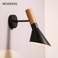 Rotatable Loft Led wall lamps Modern mirror lights iron wall light sconces Adjustable direction Bedroom bathroom Bar lamp E27