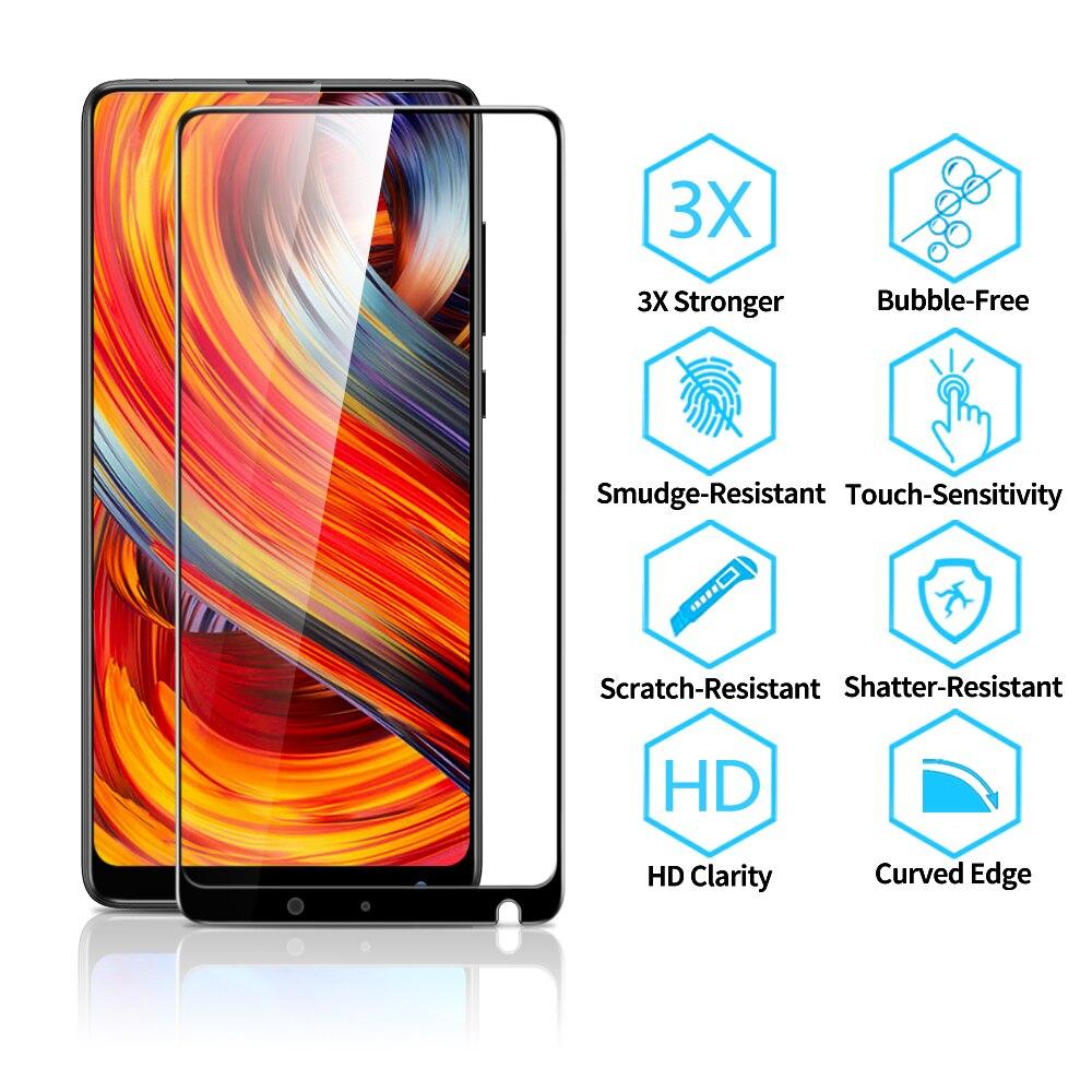 Para Xiaomi Mix 2 2s Protector de pantalla para Xiaomi 9 9Se vidrio templado 3x más fuerte 3d cobertura completa para Xiaomi película protectora Mi9