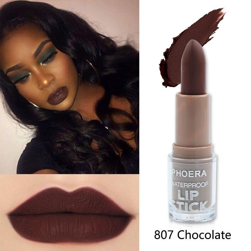 Maquillaje PHOERA, lápiz labial líquido mate, Sexy, 14 colores, impermeable, rojo oscuro, lápiz labial, maquillaje de moda para mujer, Cosméticos TSLM1
