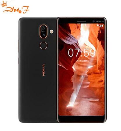 Оригинальный Nokia 7 Plus, Android 8, глобальная прошивка, OTA, 4 ГБ, 64 ГБ, Восьмиядерный процессор Snapdragon 660, 6,0 дюйма, 2160x1080P, 18:9, 3800 мАч, Bluetooth 5,0