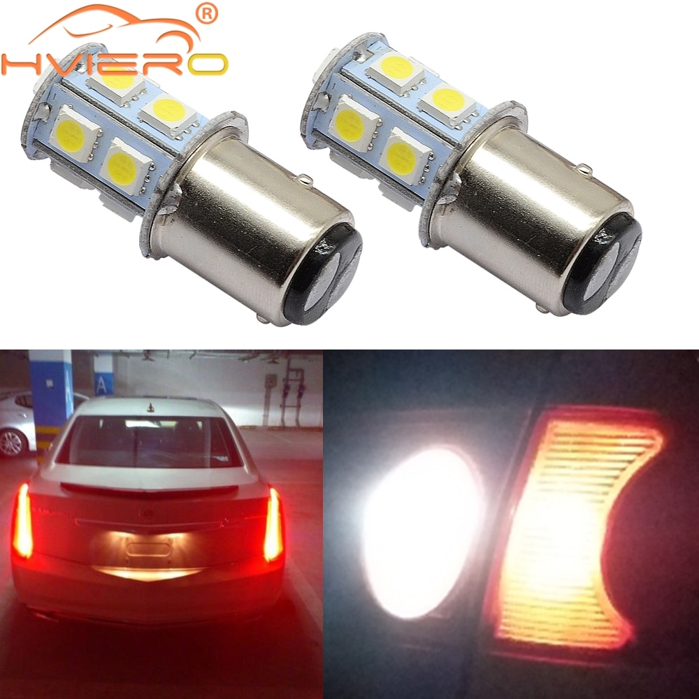1156 BA15S 1157 P21W White 5050 13smd Brake License Plate Tail Day Lights Parking Turn Signal Trunk Lamps Auto Rear Reverse Bulb
