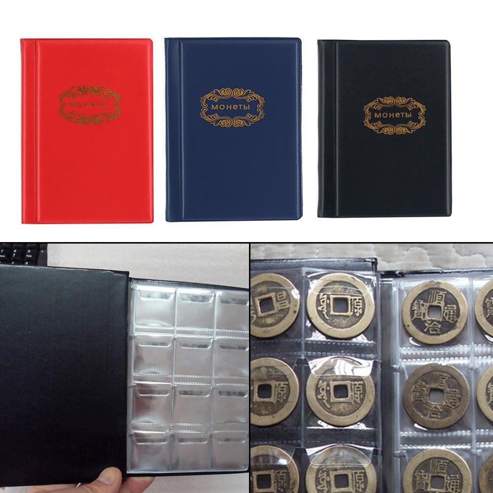 120 Bolsos Moedas Álbum Livro Coleção Mini Penny Coin Album Livro Coleta Detentores de Moeda para o Coletor De Armazenamento Presentes