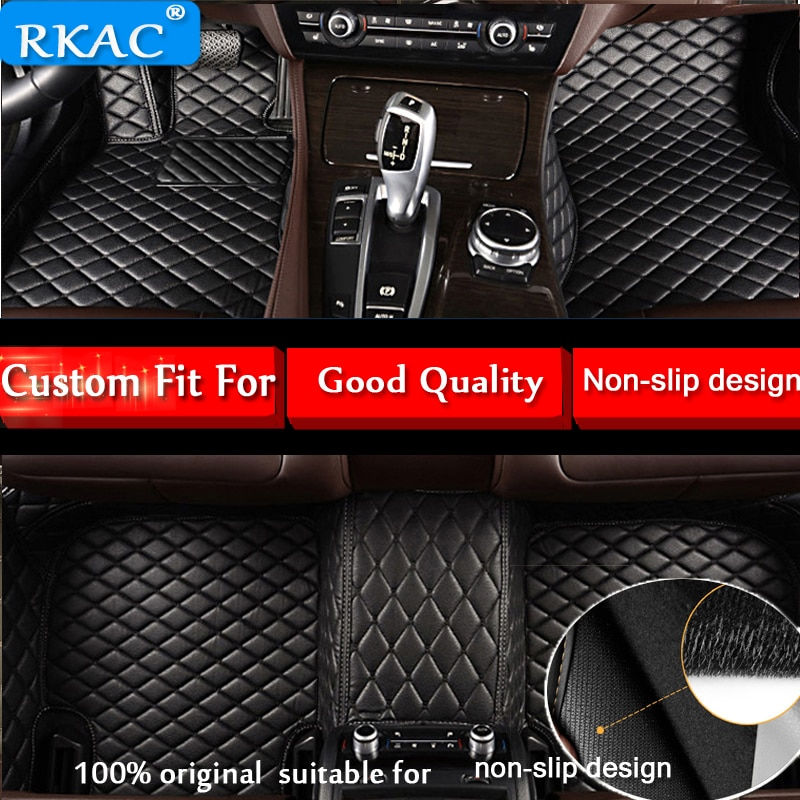 RKAC personalizado de coche alfombrillas para BMW i3 i8 M2 M3 M4 M5 M6 X1 X3 X4 X5 X5M X6M Z4 sDrive35is 730Li 740Le 740Le el lado derecho