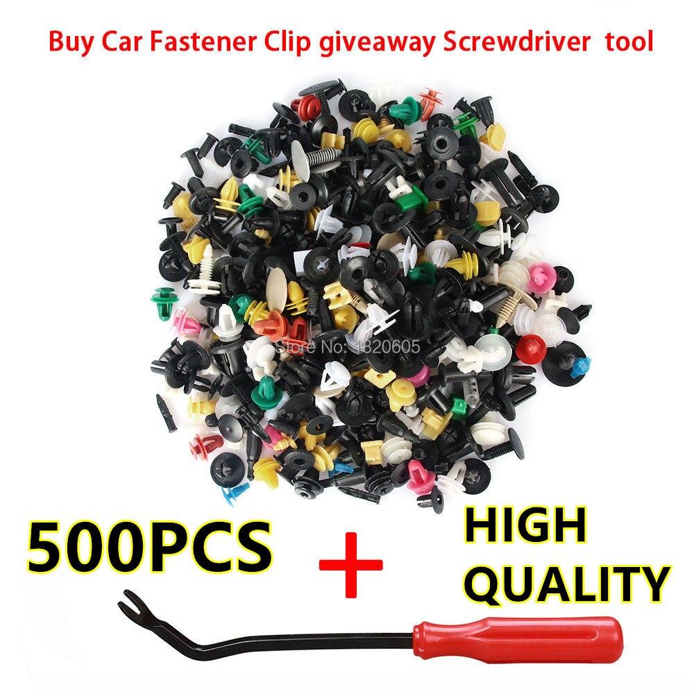 500 unids/lote mezclado Auto 30 tipos Clip de cierre de parachoques Fender...