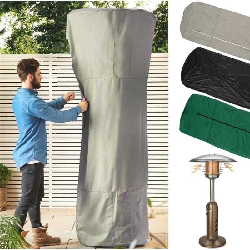 Cubierta impermeable del calentador del Patio del vinilo de 3 colores para el calentador del tipo de la forma de la seta Protector ultravioleta duradero para el jardín casero al aire libre 225x82cm