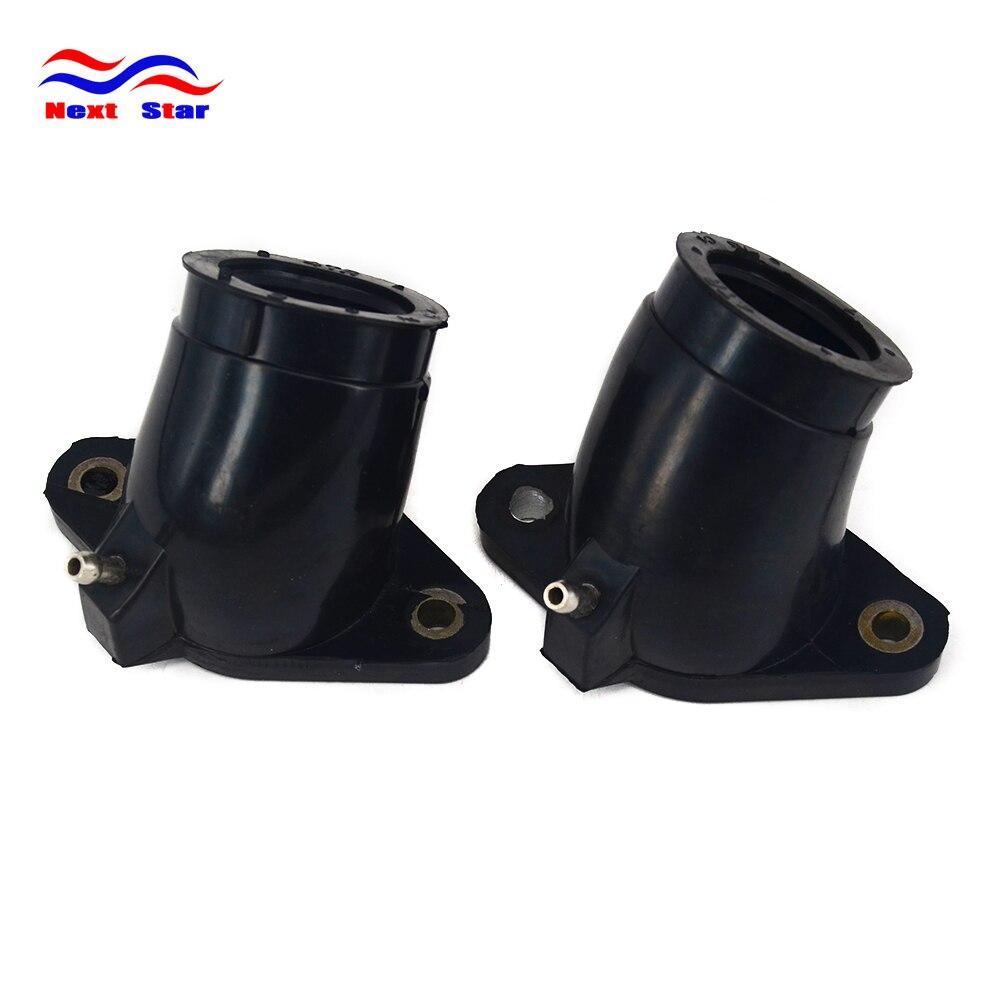 Conector de tubería de pegamento negro para motocicleta, interfaz de carburador para YAMAHA XVS400 1996-2008 XVS650A 1998-2016 XVS 400 650A