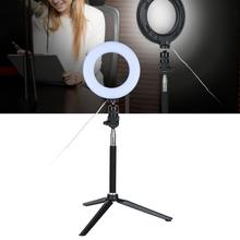 6 inç halka ışık Kısılabilir LED Işık Standı ile Video Canlı Kamera için Makyaj Telefon Video Işığı Lambası makyaj aynası ışıkları