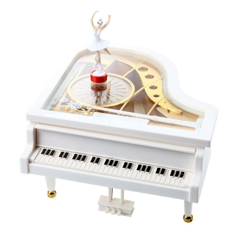 Музыкальная шкатулка Carillon, музыкальная шкатулка, рояль, белая балерина, Новинка