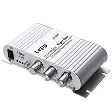 Portable LP-808 12V MiNi HiFi Super amplificateur de basse 3.5mm AUX pour moto MP3 Mp4 PC avec contrôle du Volume