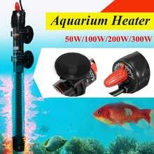 50W-300W acier inoxydable Aquarium réservoir de poissons chauffe-eau Mini tige de chauffage réglable pour le contrôle de la température daquarium