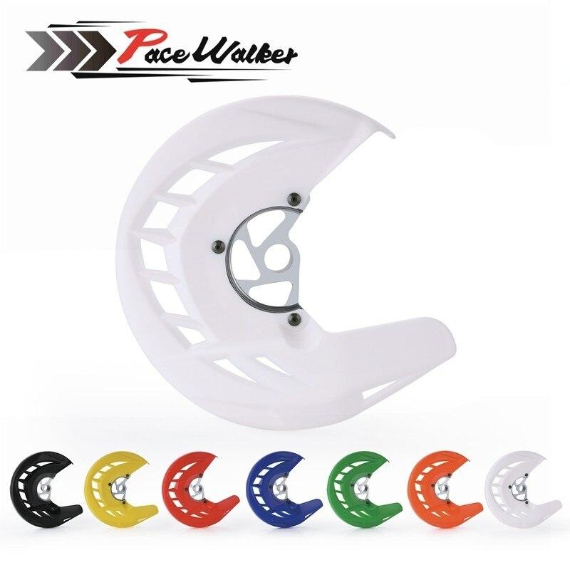 Disco de freno delantero para motocicleta Rotor protección guardia cubierta de montaje para KTM 125, 150, 200, 250, 300, 400 SX SXF XC XCF EXC EXCF 2003-2015