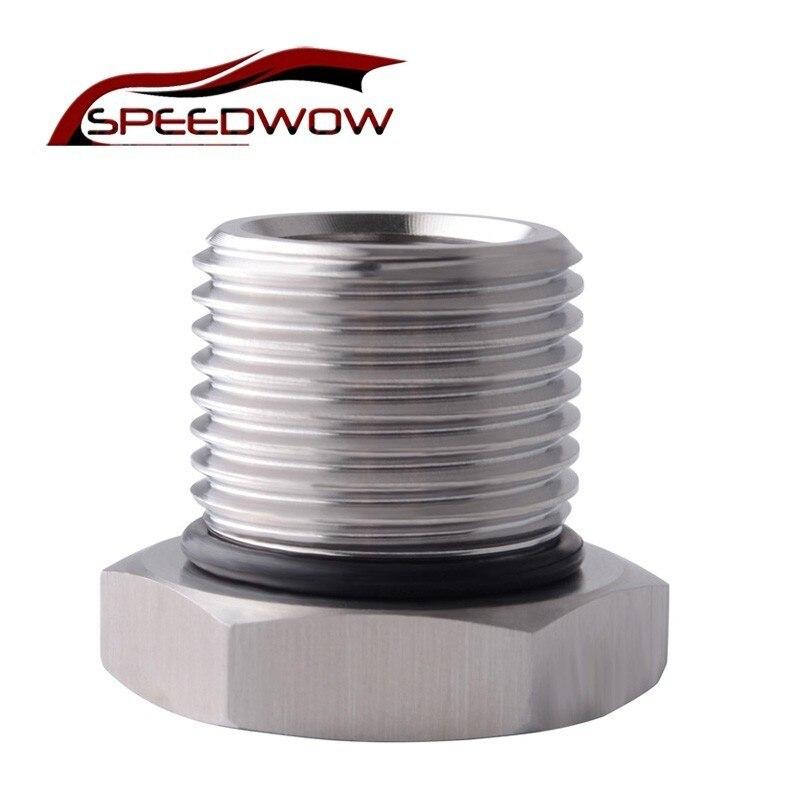 Adaptador de rosca de filtro de aceite SPEEDWOW de acero inoxidable 1/2-28 a 3/4-16 adaptador de tornillo enroscado automotriz partes de coche