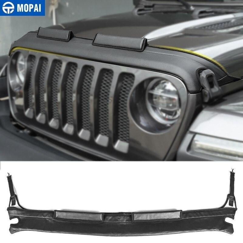 Gorros de motor MOPAI para Jeep Wrangler JL 2018, cubierta de motor de coche, cubierta protectora de capó delantero para Jeep Wrangler, accesorios de coche