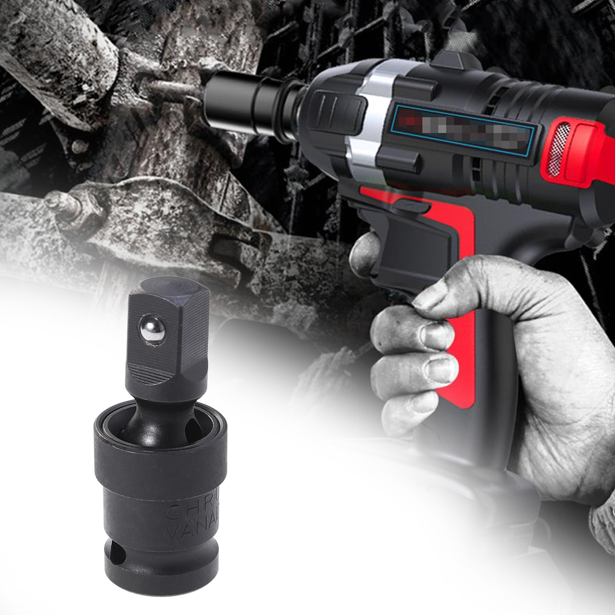 1pc 1/2 Polegada chave de soquete conector premium rustproof estável durável ferramenta chave soquete aço para garagem carro industrial fix