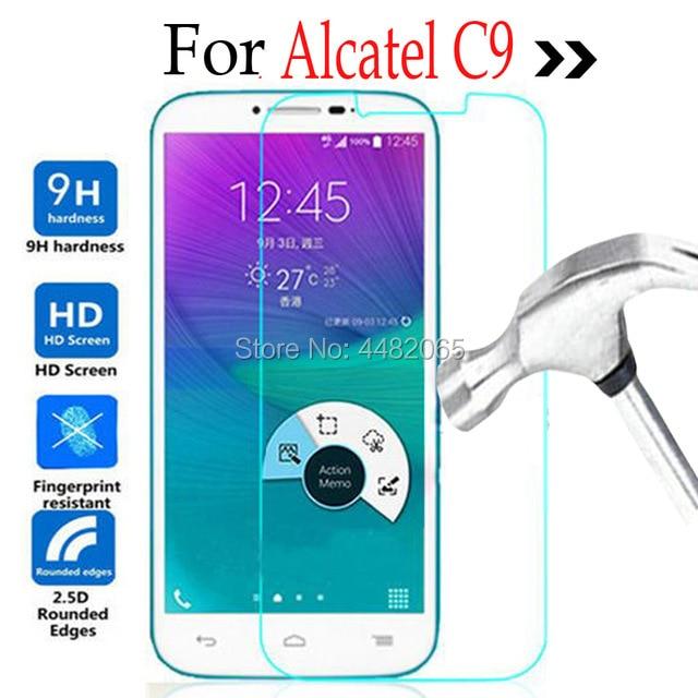 Para Alcatel One Touch POP C9 Lcd de cristal templado Protector de pantalla frontal de seguridad película protectora en Onetouch C 9 7047 7047D 7047A