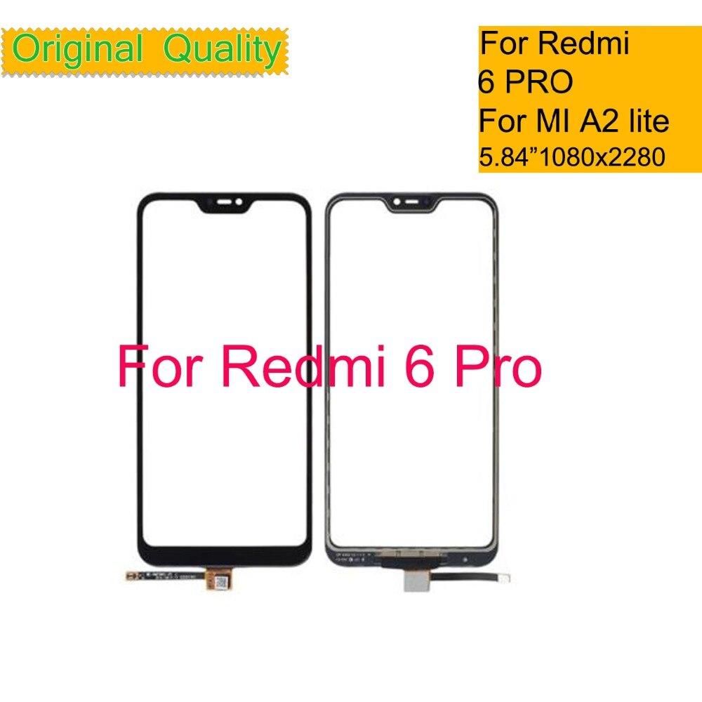10 قطعة/الوحدة ل Xiaomi Redmi 6 برو 6PRO مي A2 لايت تاتش شاشة محول الأرقام لوحة اللمس الاستشعار الجبهة الزجاج الخارجي لمس 5.84