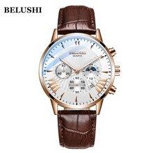 Hommes montres haut de gamme de luxe Belushi montres militaires hommes sport Quartz montre-bracelet étanche en cuir mâle horloge Reloj Hombre
