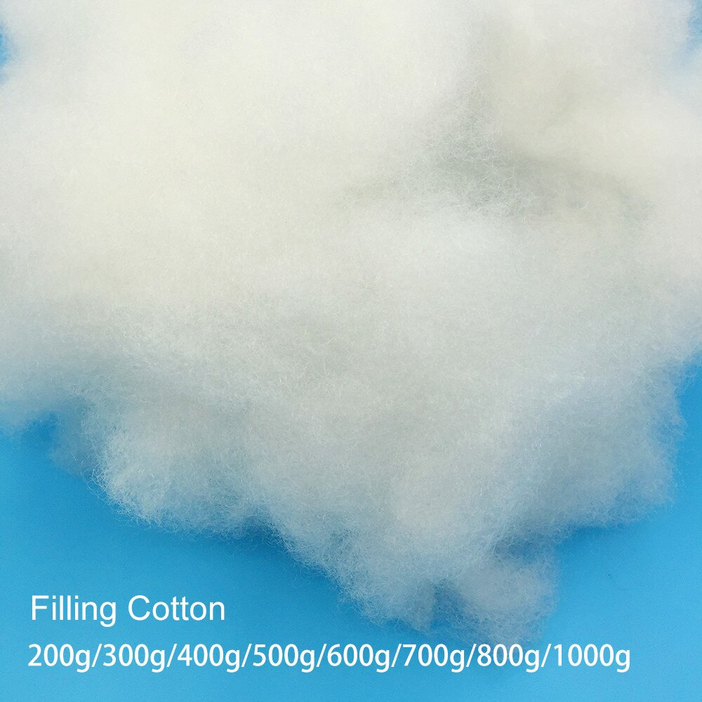 200g/300g/400g/500g/600g almohada relleno muñeca Material de relleno juguetes poliéster relleno algodón alto elástico PP algodón DIY hecho a mano