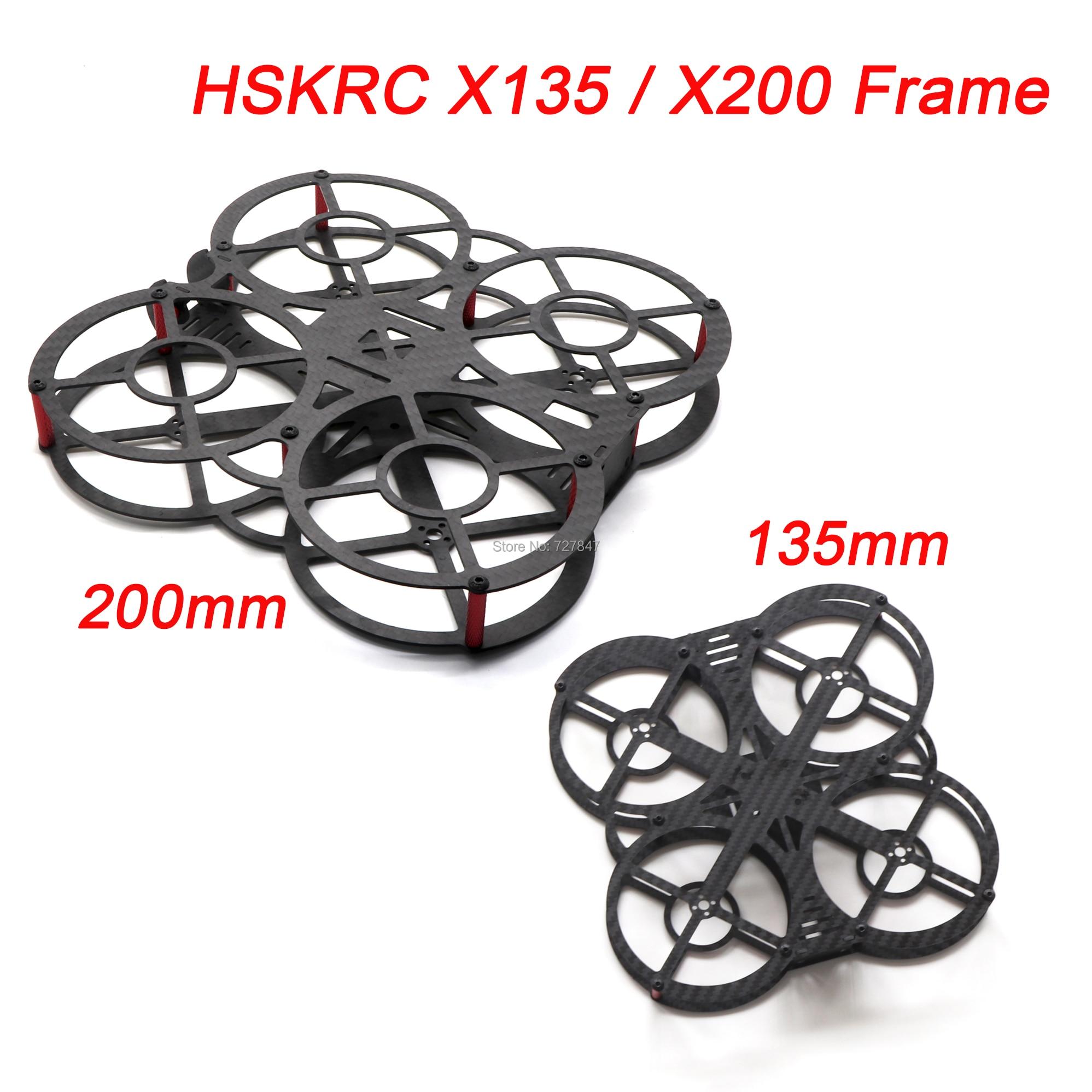 HSKRC FPV Mini 3inch X135 135mm / 5inch X200 200mm Carbon Fiber Quadcopter Frame for Mini RC Drone Quadcopter