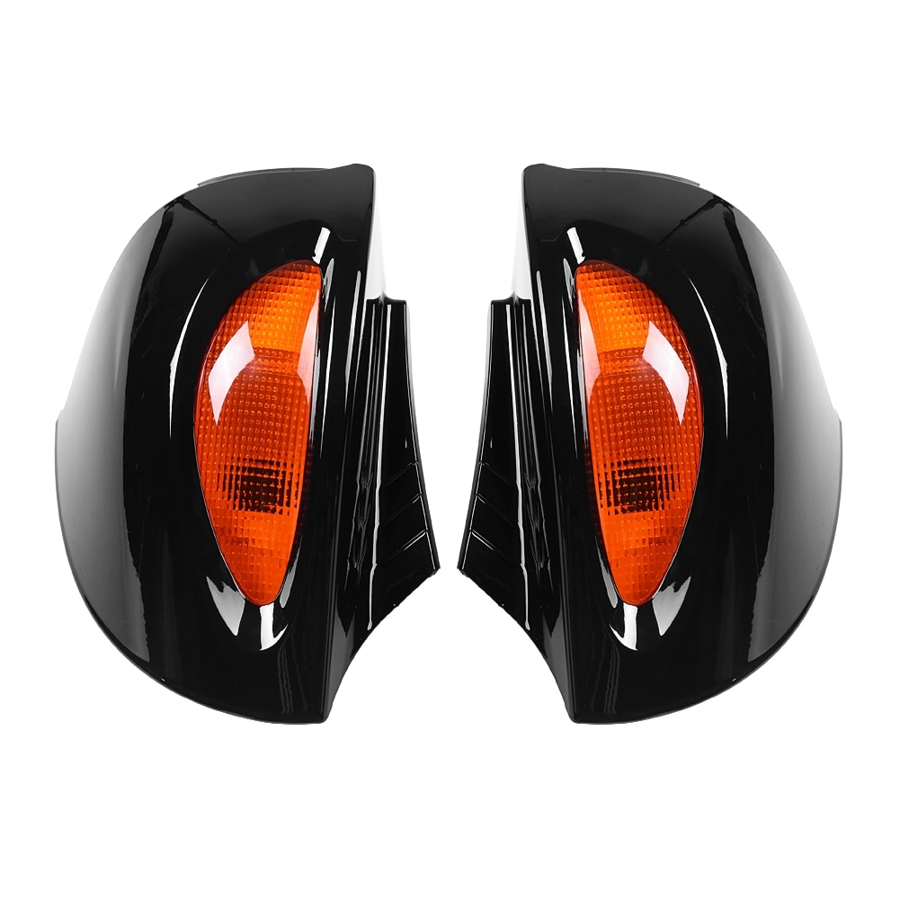 Para BMW R1100RT R1150RT R850RT 1 par de espejos de montaje lateral de cristal retrovisor con cubierta de espejo de lente de señal espejo retrovisor de motocicleta
