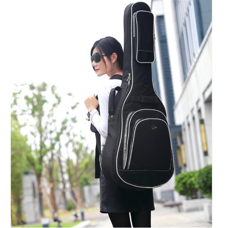 Funda de guitarra Oxford resistente al agua Estuche de transporte de guitarra para guitarra acústica popular de 41 pulgadas y 42 pulgadas