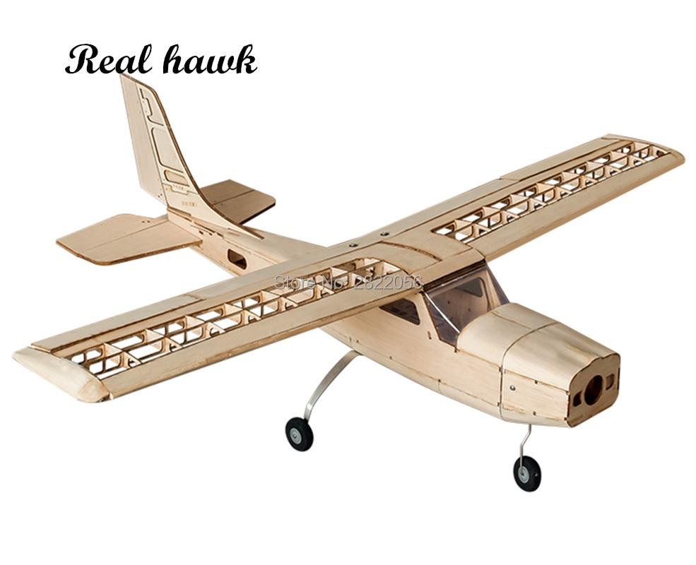 RC aviones corte láser Avión de madera de balsa Kit MARCO DE Cessna-150 sin cubierta Wingspan 960mm modelo de construcción Kit Woodiness modelo