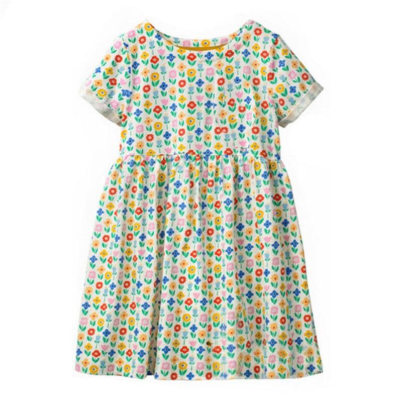 Jumping Meters  Toddler Girls Dresses 2019 Summer Baby Girl Clothes Flower Hearts Kids Dresses for Girls Children Princess Dress