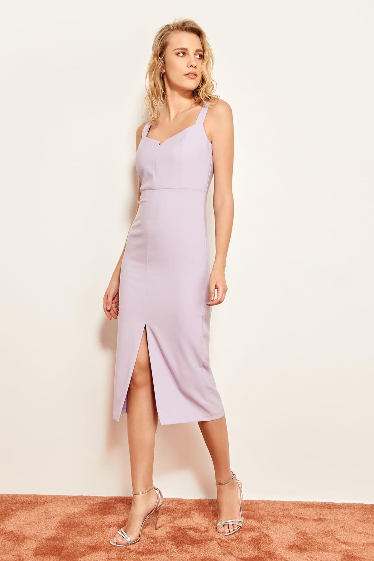 Trendyol Lila Sleeveless Dress TWOSS19BB0216