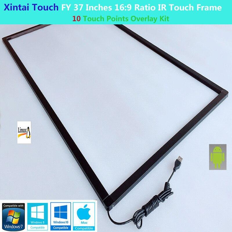 Xintai Touch FY-لوحة إطار تعمل باللمس مقاس 37 بوصة ، 10 نقاط لمس ، 16:9 ، بدون زجاج