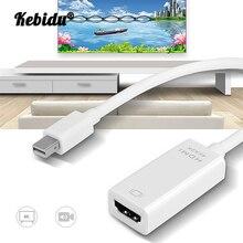 Kebidu Mini DP vers HDMI adaptateur de convertisseur de câble 4K * 2K Port daffichage daffichage DP vers HDMI adaptateur pour Macbook pour PC portable