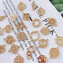 KC plaqué or Eardrop accessoires métal pendentif boucle doreille composants collier breloques bricolage faisant matériel bijoux trouver 10 pièces