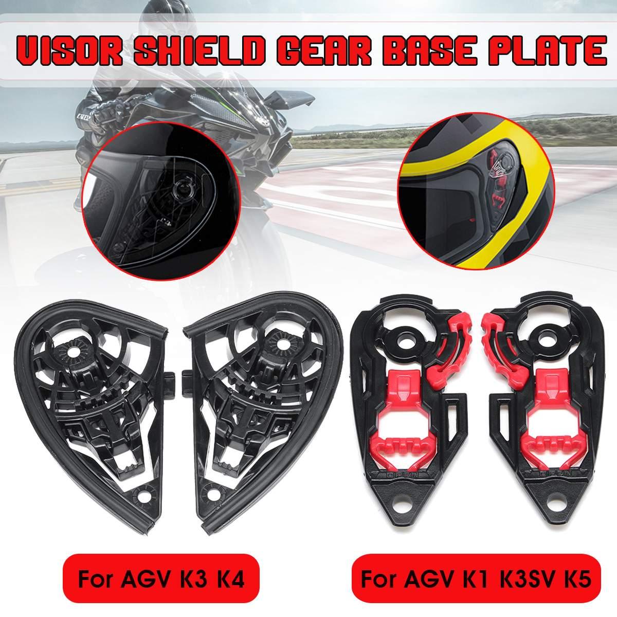 Par casco de motocicleta Visor escudo Base de engranajes placa lente titular para AGV K1 K3SV K5 / K3 K4