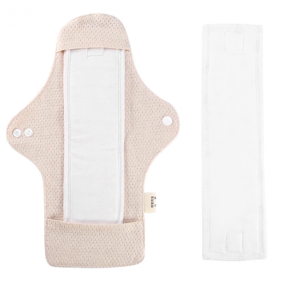 Servilletas de tela sanitarias reutilizables de algodón orgánico de 100% fina almohadilla Menstrual almohadillas sanitarias femeninas lavables Moma Pantiline uso diurno
