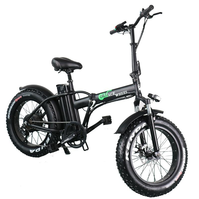 Bicicleta eléctrica de 2 ruedas con neumático ancho de 500W, bicicleta eléctrica de 55 km/h y 48V o 15Ah, estante para equipaje de regalo con batería extraíble, disponible en Europa