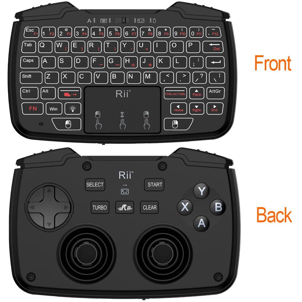 2.4GHz لوحة مفاتيح الألعاب اللاسلكية الصغيرة مع لوحة اللمس أذرع التحكم في ألعاب الفيديو Dpad ABXY زر L1 R1 L2 R2 توربو وظيفة ل TV Box PC PS3