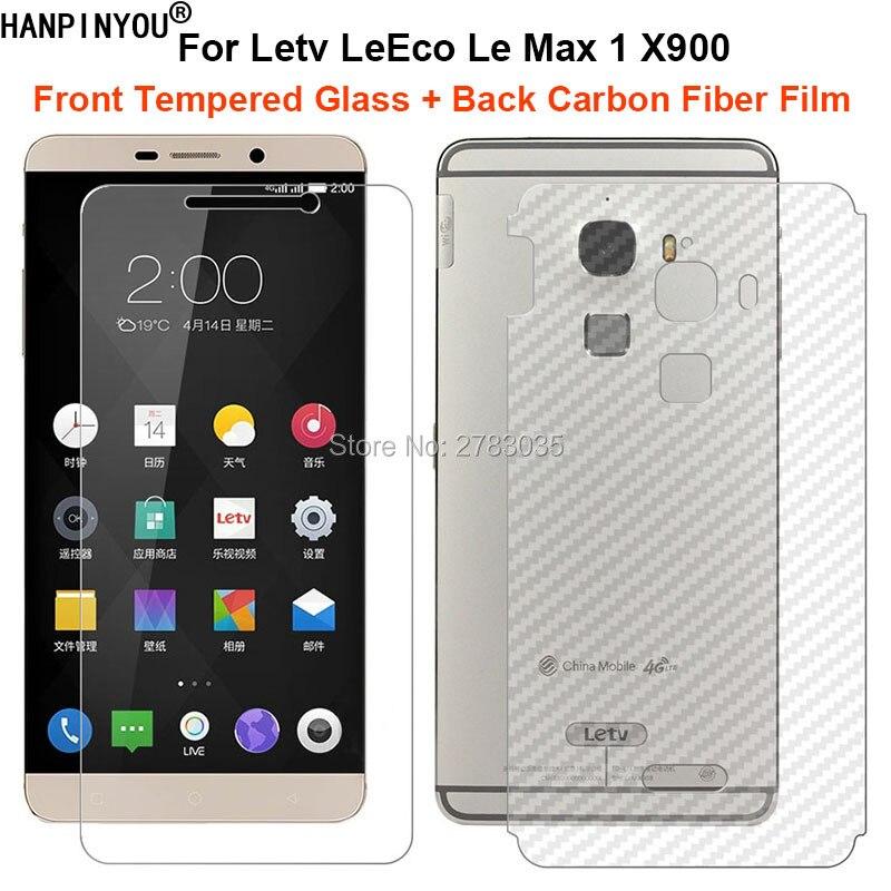 Для Letv LeEco Le Max 1 One X900 1 набор = мягкая задняя пленка из углеродного волокна + ультратонкое закаленное стекло премиум класса, защита переднего э...