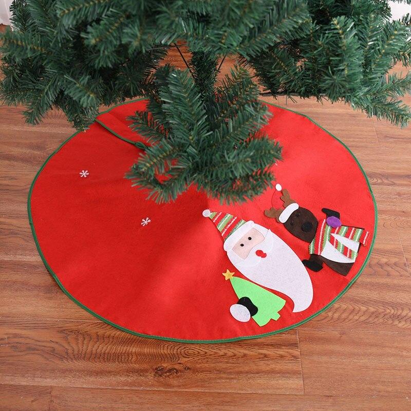 Faldas rojas Para árbol De Navidad, decoración Para el hogar, Navidad, invierno,...