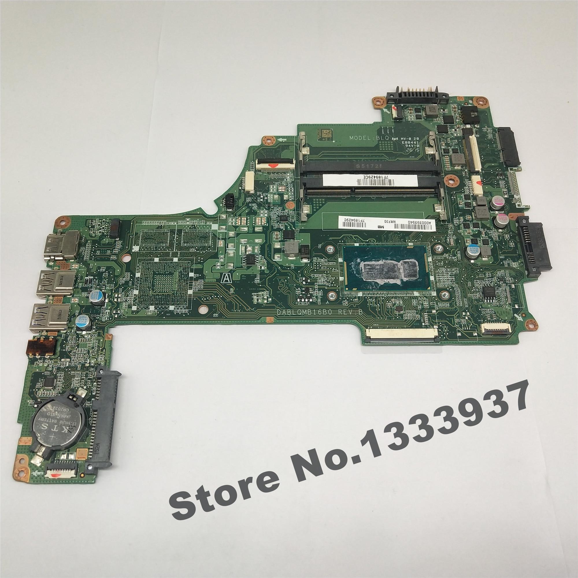 اللوحة الرئيسية لتوتوشيبا الأقمار الصناعية C50-C C55-C اللوحة الأم A000393940 dpl qmb16b0 SR1EK i3-4005U