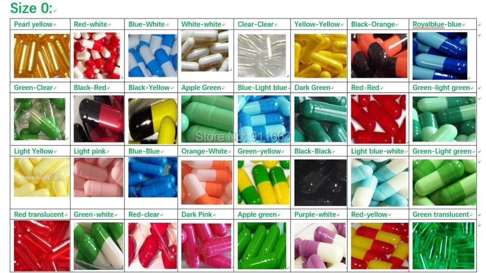 ¡0 # cápsulas 50 Uds! Todo tipo de cápsula vacía coloreada, cápsulas vacías de gelatina tamaño 0 (cápsulas disponibles unidas o separadas)